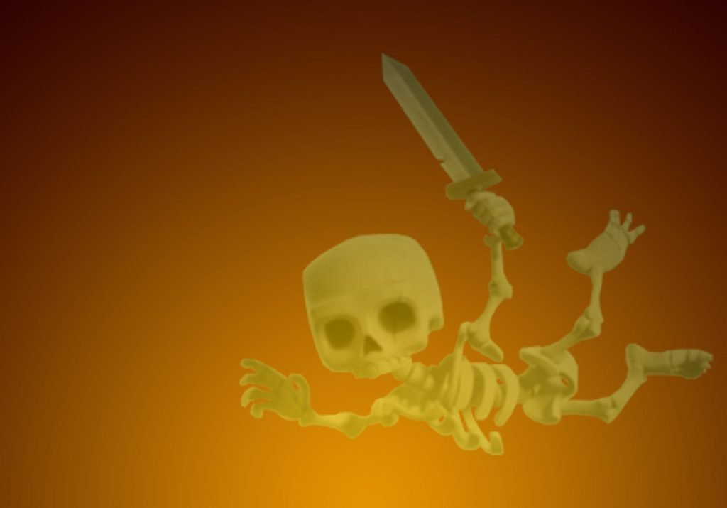 Clash of Clans Drop Ship Skeleton