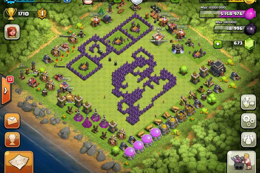 Clash of Clans Funny Base 6
