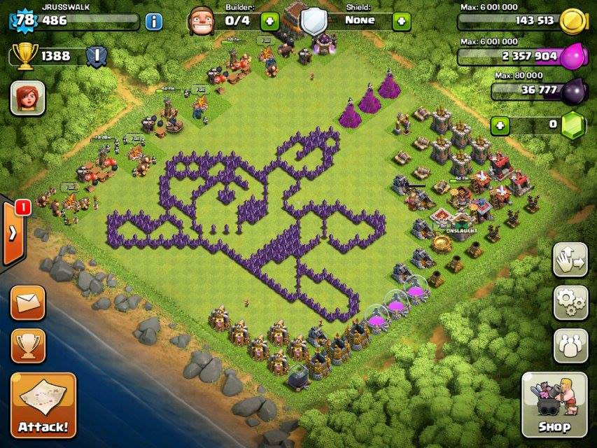 Clash of Clans Funny Base 7