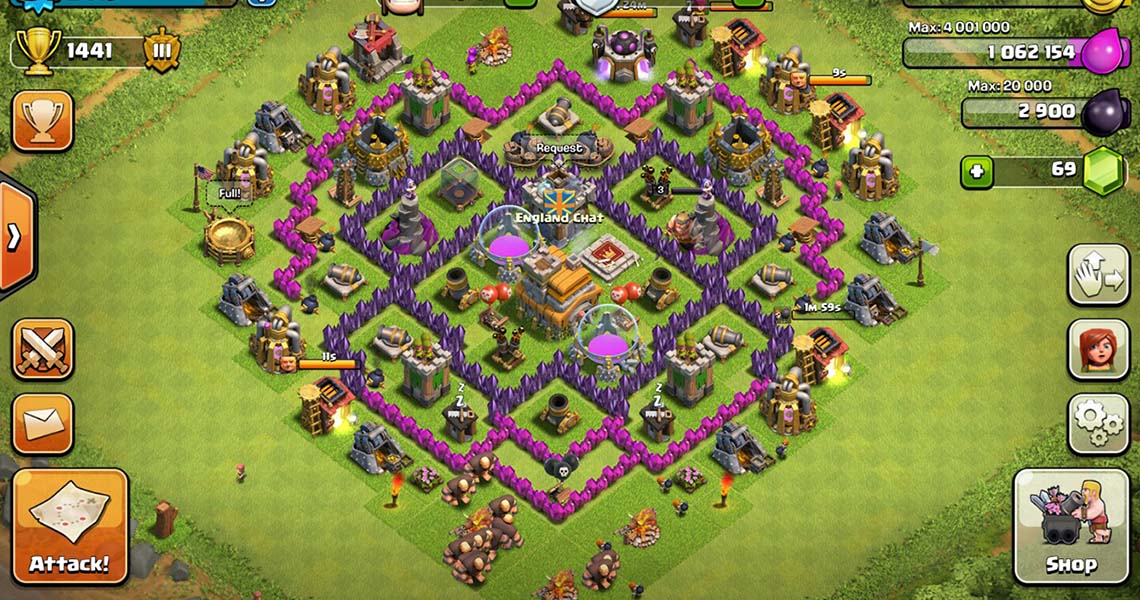 Clash of Clans Town Hall 7 Defensive Base