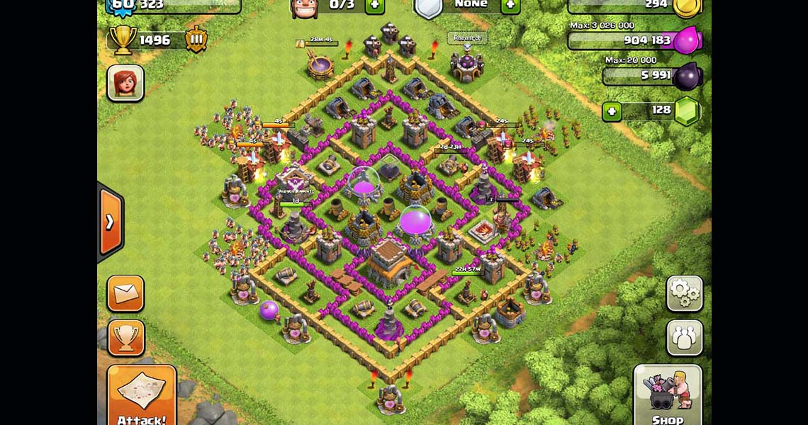 Clash of Clans Town Hall Level 8 Defensive Base