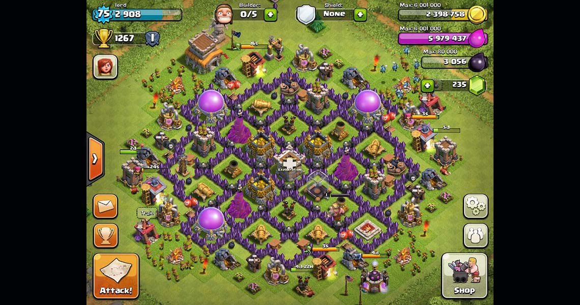 Clash of Clans Town Hall Level 8 Farming Base