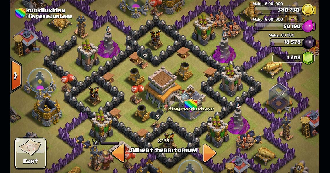 Clash of Clans Town Hall Level 8 War Base