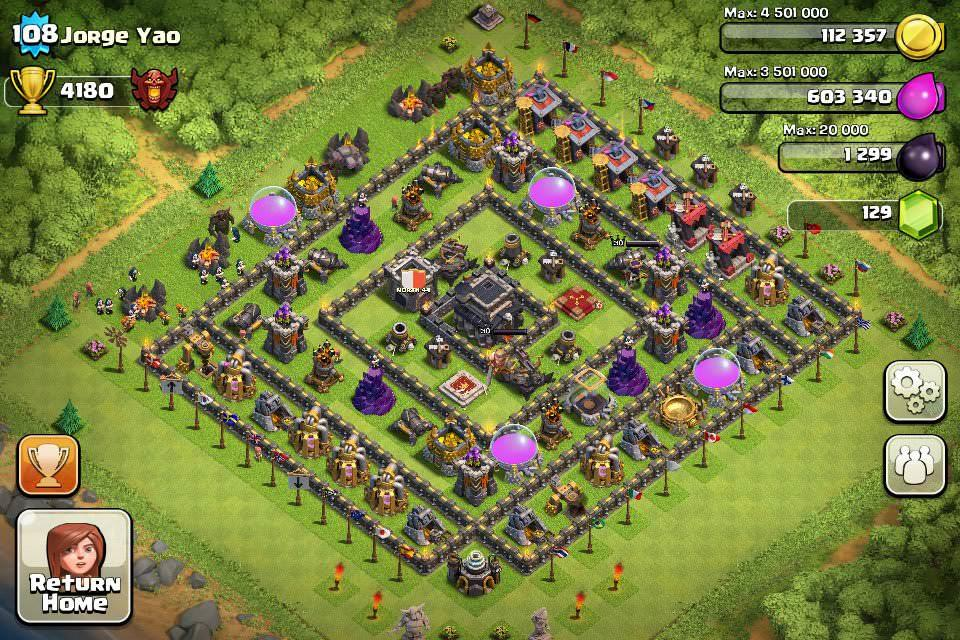 Clash of Clans Base Designs Town Hall Level 9