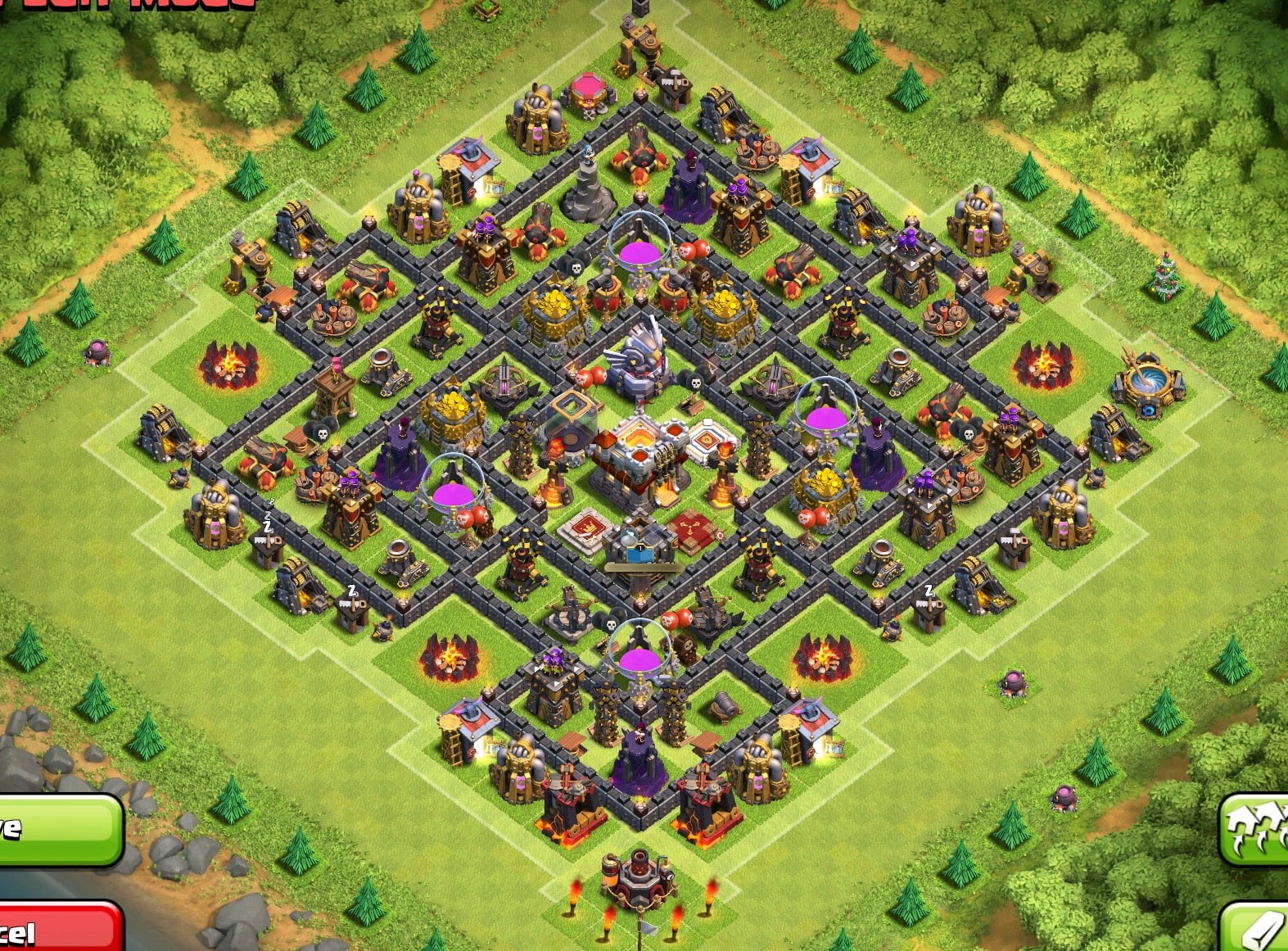 Clash of Clans Base Designs Town Hall Level 11